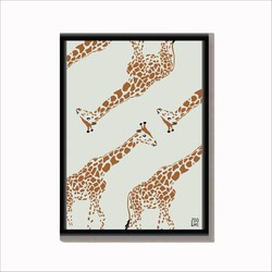 Dierenposter Giraffe - A4