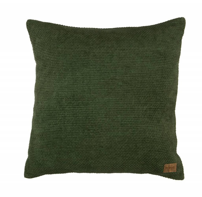 Be Pure Home Be Pure Home Craddle Kussen Chenille Groen 45x45cm -