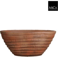 Mica Decorations schaal ovaal lloyd maat in cm: 52x24x21 terra