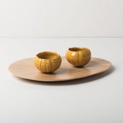 Plate - Stoneware Wood Print