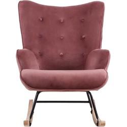 Schommelstoel Binky - Velvet roze