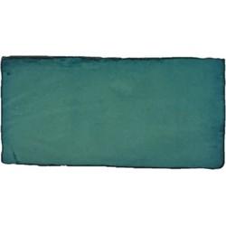 Wandtegel Terre d'Azur Lugo 7,5x15 cm groen 0,5M2