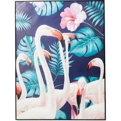 Kare Design Schilderij Touched Flamingo Road 122 x 92