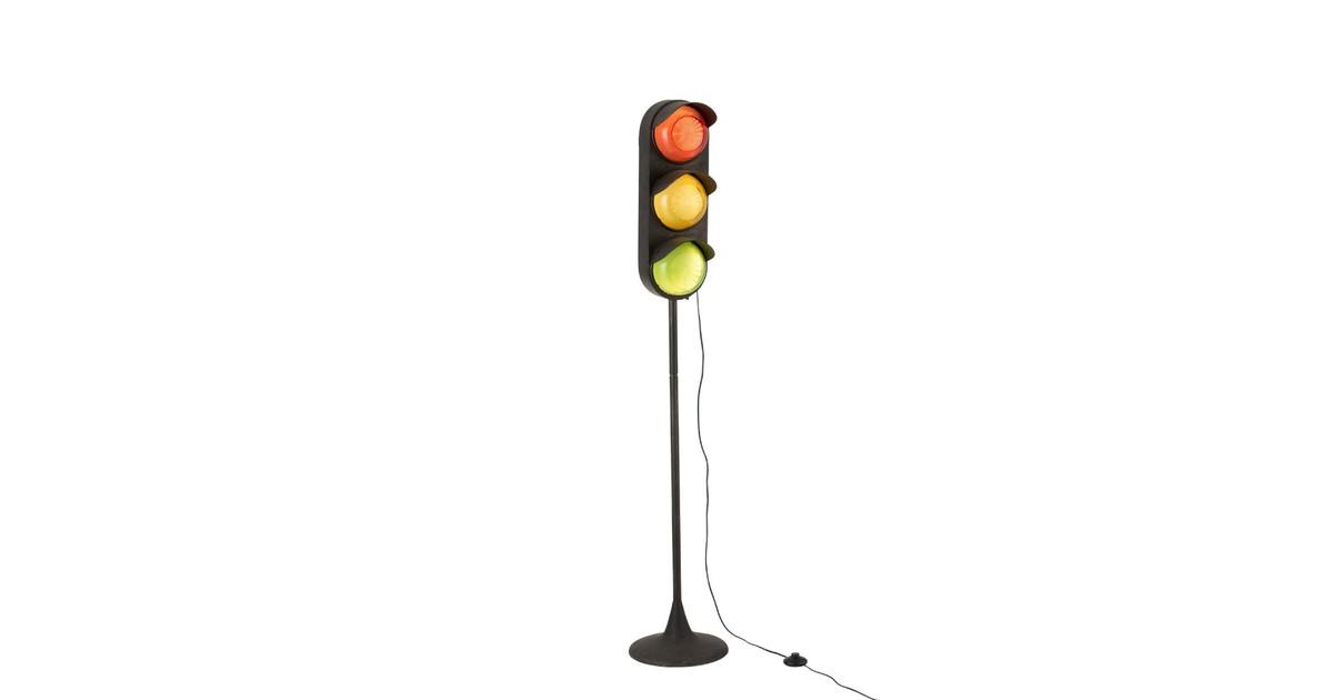 Traffic light - Vloerlamp - verkeerslicht - metaal voet - zwart
