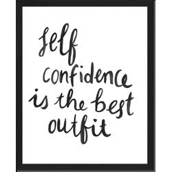 Self-confidence - Fotoprint in houten frame - 40 X 50 X 2,5 cm