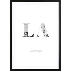 LA  Coördinaten Poster (70x100cm)