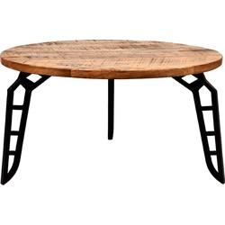 Coffee table Flintstone by LABEL51 is a cool table with a sensational design. Flintstone is made of rough mango wood with 3 constructive legs, provided with beautiful stone-shaped cut-outs. A handy, accessible side table and great fun to combine.<br>