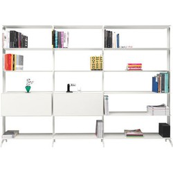 Alias Aline Bookcase - 2 drawers - L 272,2 x H 205,2 cm. White