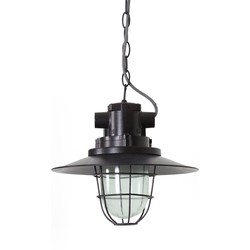 Hanglamp CAILY - Donker Roest + Helder Glas