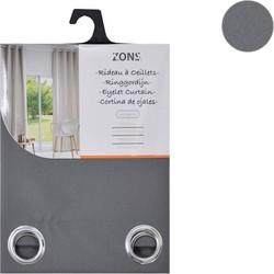 Zons Ringgordijn - 140x240cm - Antraciet