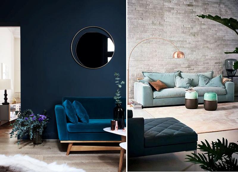 12 blauwe banken om je interieur op te vrolijken