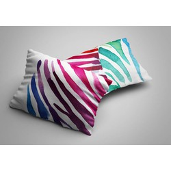 Nightlife - Kussensloop - Zebra Color (2 stuks) - Katoen