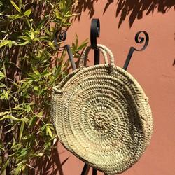 Myroundie - Roundie Bag - Ronde Ibiza Boho Tas 16 - Hand gevlochten Palmblad Tas - Maat L