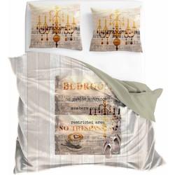 VIP Bedding Dekbedovertrek Members Only Maat: Lits-jumeaux (240 x 220/260 cm cm + 2 kussenslopen 60x70cm)