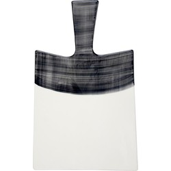 HK-living broodplank zwart wit  keramiek 33,5x21x0,7cm