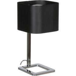 Linea Verdace Tafellamp Quadro - H36 Cm - Zwart/Chroom
