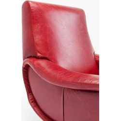 Fauteuil Rood Leer.Kare Design Fauteuil Capitano Rood Leer Kare Design