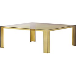 Kartell Invisible Low Coffee table - H 31 cm. Amber