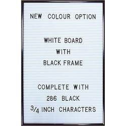 Jay Letterbord Wit/Zwart - 45 x 30 cm