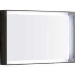 Keramag Citterio lichtspiegelelement 88,4x58,4x14 cm. met led Eiken Grijsbruin