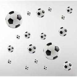 Muursticker Voetballen (set van 18)