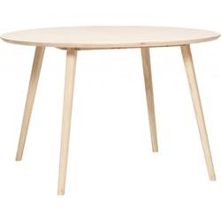 Hubsch Eettafel Rond 115 cm Eikenhout