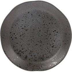 HK-living ontbijtbord grijs bold & basic 21x21x3cm