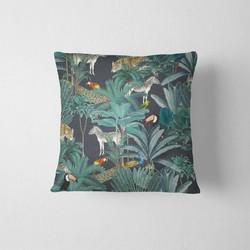 Tuinkussen - Jungle donker - 50 x 50 cm kussenhoes + vulling