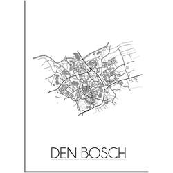 Den Bosch Plattegrond poster - A4 poster zonder fotolijst