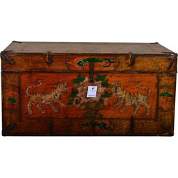 Fine Asianliving [PREORDER WEEK 48] Traditional Tibetan Storage Chest Hand Made - Tigers