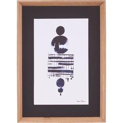 Schilderij by Lissa Thimm - Drops on a string - oak frame - 55x40 cm  - House Doctor