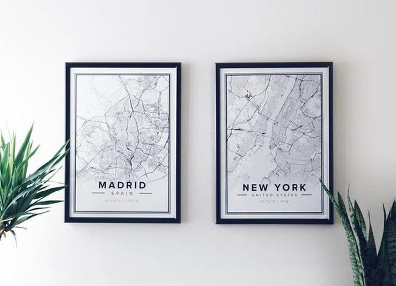 Trend: geografische posters alles om van je huis je thuis te maken
