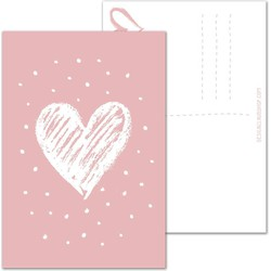 Valentijnskaart - Liefde - Valentijn Vol Hartje Roze - DesignClaud