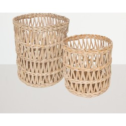 Urban Nature Culture basket banana leafs, set of 2