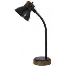 Light & Living Bureaulamp JODY zwart-zink+weather barn