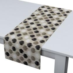 Rechthoekige tafelloper zwart-beige