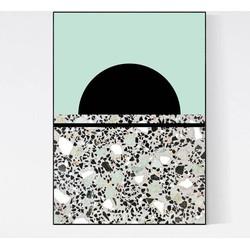 Terrazzo Poster - Moon Mint I