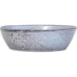 HK-living schaal grijs rustiek L 27x27x7,6cm