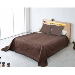Nightsrest Bedsprei Alicia Bruin-Creme Maat: 180x270cm
