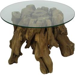 Salontafel - rond - teak