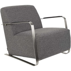 Zuiver Fauteuil Adwin - Stof Donkergrijs