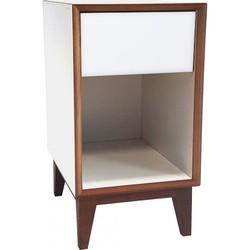 PIX nachtkastje groot met wit frame en wit voorkant