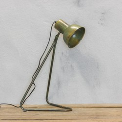 Metalen tafellamp 22x48cm