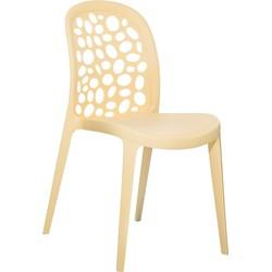 Tuinstoel beige - Plastic stoel - Stoel van kunststof - RUBIN