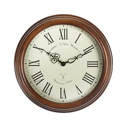 Acctim Lacock Towchester Radio Controlled Wall Clock, Brown