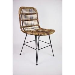 Actie! Set van 4 handgemaakte rotan eetkamer stoelen