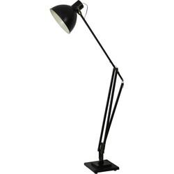 Vloerlamp EWOUT zwart met brons - 110x37,5x235 cm