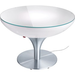 Moree - Ronde Salontafel Lounge - Hoogte 55 Cm Indoor - Wit
