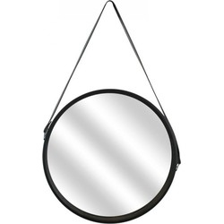 Ronde spiegel met zwarte omlijsting - ø 40cm