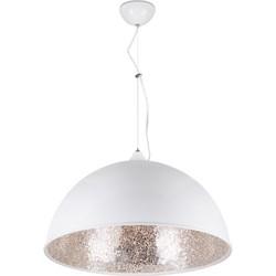 Linea Verdace Hanglamp Cupula Mirror Zilver Ø50 Cm - Wit